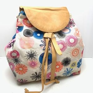 KATE SPADE SATURDAY Leather & Canvas Backpack Bag